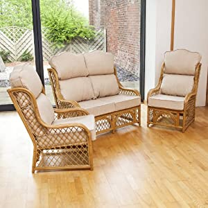 Home & Garden Direct Conservatory Replacement Cane High Back Cushion Set Choice of Colours from Home & Garden Direct