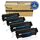4 Pack V4INK ® New Compatible Canon 104/FX-9/FX-10 Toner Cartridge-Black