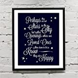 Perhaps They Are Not Stars Self Adhesive Print (M) Wall Saying Vinyl Lettering Home Decor Decal Stickers Quotes