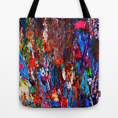 Society6 - Color Mix / Palette Knife Abstract Tote Bag By Maggs326