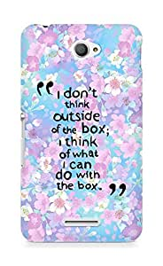 AMEZ i dont think out of the box Back Cover For Sony Xperia E4