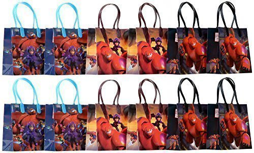 "Disney Big Hero 6 Party Favor Goodie Gift Bag - 6"" Small Size (12 Packs)"