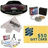 Opteka Platinum Series 0.3X HD Ultra Fisheye Lens For Sony DCR-DVD650 SR68 SR88 SX63 SX83 SX85 - Includes Bonus...