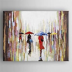 Lgem lde handmalerei moderne abstrakte malerei hand bemalte leinwand mit gestreckten - Bemalte leinwande ...