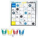 Shooters & Ladders Drinking Game Set - Includes Bonus Deck of Cards!