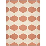 Safavieh Courtyard Collection CY6162-231 Beige and Terracotta Indoor/ Outdoor Area Rug, 9 feet by 12 feet (9' x 12')
