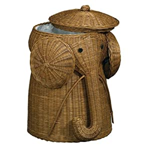 Rattan Elephant Hamper 22 Hx14 D Brown