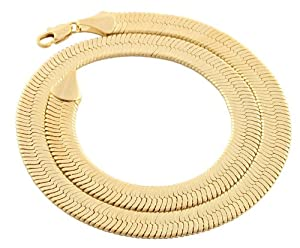 JOTW Goldtone 11mm 18 Inch Herringbone Chain Necklace