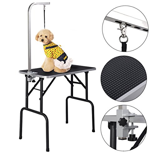 new-32-adjustable-pet-dog-cat-grooming-table-top-foam-w-armnoose-rubber-mat