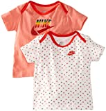 Nike Unisex Baby Infants T-Shirt Gift Pack 6 - 9 Months Pink/ White