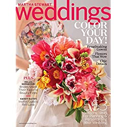 1-Year (4 issues) of Martha Stewart Weddings Magazine Subscription