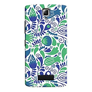 ColourCrust Lenovo A2010 Mobile Phone Back Cover With Floral Pattern Style - Durable Matte Finish Hard Plastic Slim Case