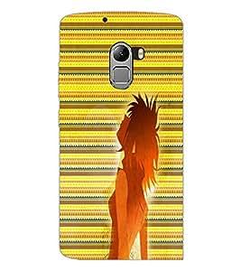 PrintDhaba Cool Girl D-5637 Back Case Cover for LENOVO VIBE X3 LITE (Multi-Coloured)