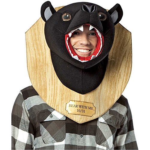 Bear With Me Trophy Head Adult Costume - One Size