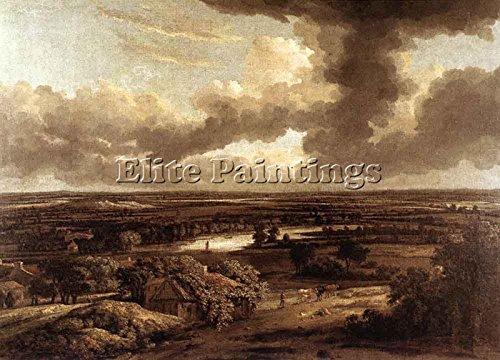 koninck-philips-dutch-landscape-viewed-from-dunes-tableau-huile-toile-peinture-70x100cm-haute-qualit