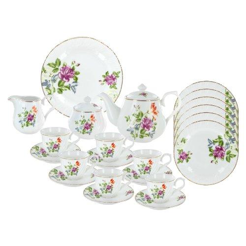 Summertime Flowers Deluxe Tea Set