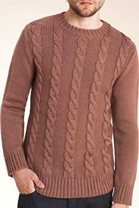 Limited Collection Chunky Cable Knit Slim Fit Jumper [T30-1602-S]