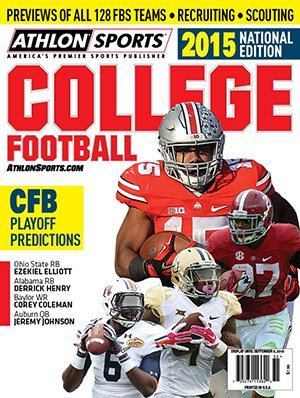 Athlon Sports 2015 College Football National Preview Magazine- Ohio State/Alabama/Auburn/Baylor Cover
