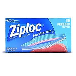 Ziploc Freezer Bag, Quart Value Pack, 40-Count(Pack of 3)
