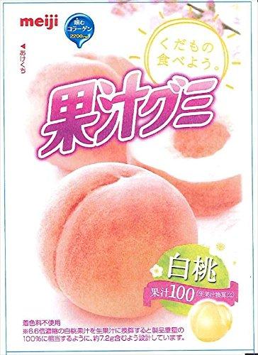 明治 果汁グミ白桃 47g×10袋