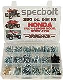250pc Specbolt Honda 400EX & 250EX Bolt Kit for Maintenance & Restoration OEM Spec Fasteners Quad TRX400EX TRX250X aslo great for ATC & TRX 350x 300ex 300x 250ex 250x 200sx 200s 200x 125cc 110cc & TRX90 models