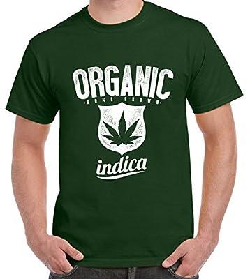 Tribal T-Shirts Organic Indica Marijuana Cannabis Men's T-Shirt