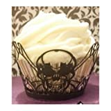 Cupcake Wraps- Easy Party Decorations- Add Flair to your Halloween, Office, Kids, Adult Birthday Party, or Wedding Celebration. Use as Decorative Nut Cup with Empty Cupcake Liners- Add a Topper for Flair or Give as a Party Favor in a Cupcake Box!