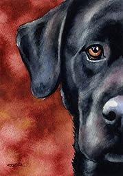 ''Black Lab'' Dog Art Print Signed by Artist DJ Rogers [Kitchen]