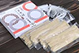 小嶋屋 半生へぎそば 4人前つゆ付 (そば110g×4袋、つゆ[希釈タイプ]50ml×4袋)