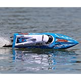 UDI002 Tempo Remote Control Boat for Pools, Lakes and Outdoor Adventure - 2.4GHz High Speed Electric RC - includes BONUS BATTERY (*Doubles Racing Time*) - BLUE