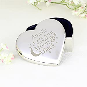 'I Love You To The Moon & Back' Personalised Trinket Box ~ Gift For Her, Valentine's Day, Anniversary