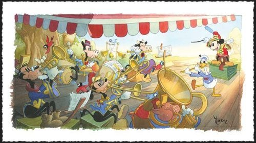 Mickey Mouse: Strike Up the Band limited edition print by Toby Bluth usagi gallery edition 1