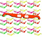 50 pairs 3D Fireworks Glasses Neon Multi-Starbursts of 3D Color
