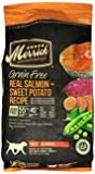 Merrick Grain Free Real Salmon and Sweet Potato Recipe Dry Dog Food, 12-Pound