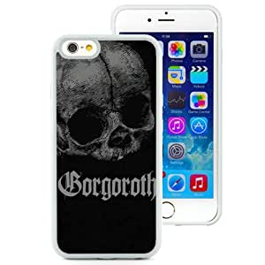 6 case,Unique Design Gorgoroth Skull Letters Background Darkness White iPhone 6 4.7 inch TPU case cover