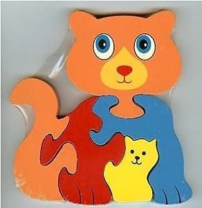 Holzspielzeug - Tier Wooden Puzzle - CAT - ACKD60930.CAT -. Ackerman