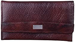 Leather Ways Women's Clutches (Brown)
