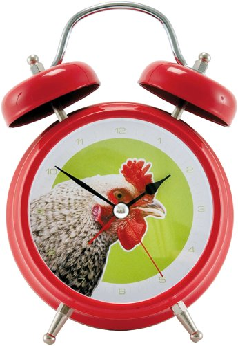 Present Time Silly Rooster Alarm Clock with Animal Sound