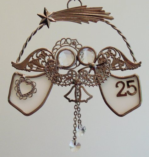 A Match Made in Heaven® 25th Wedding Anniversary Ornament