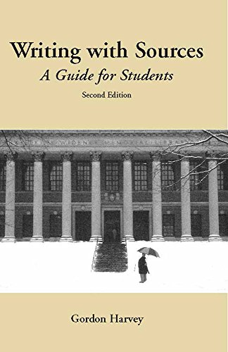 Writing with Sources: A Guide for Students (Hackett...