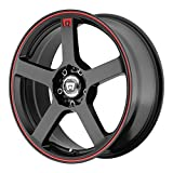 Motegi Racing MR116 Matte Black Finish Wheel with Red Accents (17x7/5x100mm)