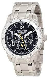 Nautica Men's N14644G Windseeker Classic Analog Enamel Bezel Watch