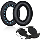 ITIS Replacement Earpad Ear Pad Cushions for Bose Quietcomfort 2 QC2, Quietcomfort 15 QC15, Quietcomfort 25 QC25, Ae2, Ae2i , Ae2w Headphone with IT IS Headphone Cable Cord Clip