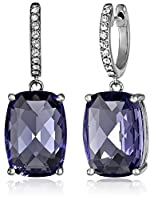 Sterling Silver Swarovski Clear Crystal Dangle Earrings by The Aaron Group - HK DI