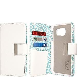 EMPIRE KLIX Klutch Designer Wallet for Samsung Galaxy S4 - Mint Leopard