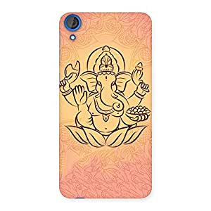 Enticing Jai Ganesha Print Back Case Cover for HTC Desire 820