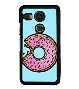 Doughnut Bite 2D Hard Polycarbonate Designer Back Case Cover for LG Nexus 5X :: LG Google Nexus 5X New