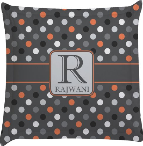 Grey Dots Personalized Euro Sham Pillow Case front-980589