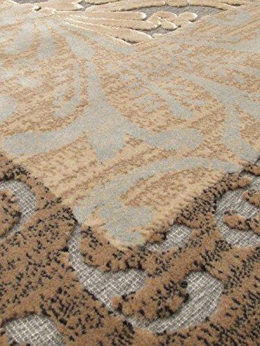 Ecarpetgallery Transitional Silko Legacy Open Field 3' x 5' Ivory living room dining room arearug