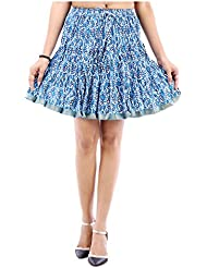 Sunshine Enterprises Women's Cotton Wrap Skirt (Blue) - B01HELQ3CG